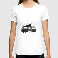vw T-shirts featuring VW bus by kirsten bingham