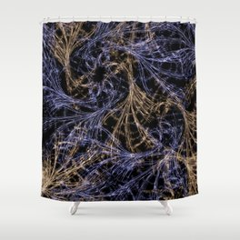 Blue Magical Wisps Shower Curtain