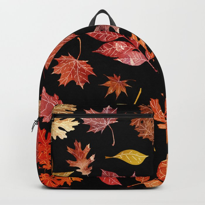 Autumn Leaves at Night Backpack