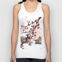 cherry blossoms Tank Tops featuring Cherry Blossoms by paytonbdesigns