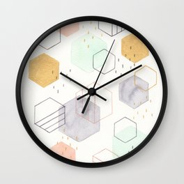 Hexagon Scatter Wall Clock