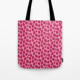 Pink Ladybugs Tote Bag