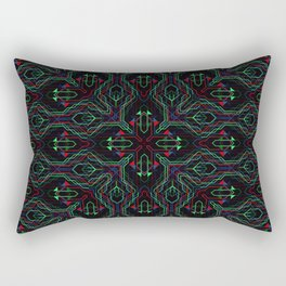Square Mandala 6 Rectangular Pillow