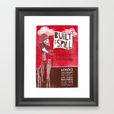 Built to Spill - Wonder Ballroom, Portland Framed Art Print