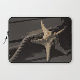 Starfish and boat rope on the pier - dark background - #Society6 - #buyart Laptop Sleeve