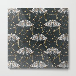 Boho Moths No. 2 Metal Print