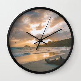 Kailua Beach Sunrise, North Shore Oahu Wall Clock