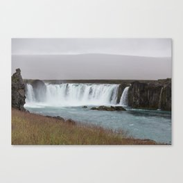 Godafoss waterfall in Iceland - nature lanscape Canvas Print