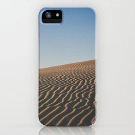Desert Dune Shadows at Dusk iPhone Case