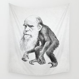 Charles Darwin as an Ape, caricature 1871 Wall Tapestry