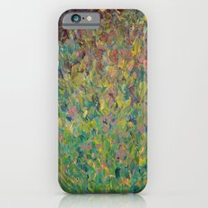 FIELDS OF BLUE - WOW Modern Abstract Shades of Blue and Green in Nature Theme Grass Waves iPhone 6s Slim Case