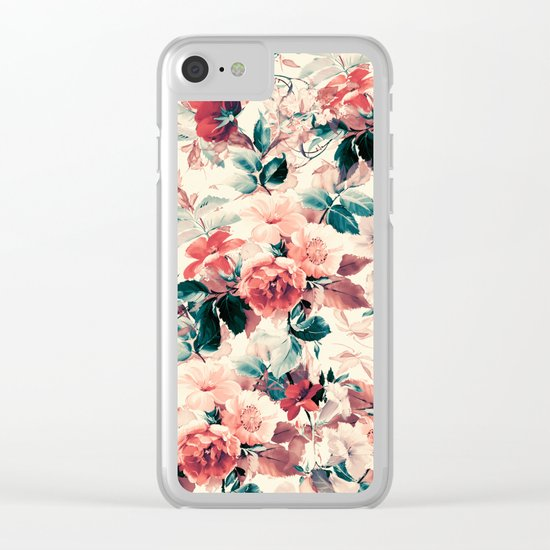 FLORAL PATTERN 09 Clear iPhone Case