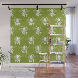 The Bee's Knees Green Wall Mural