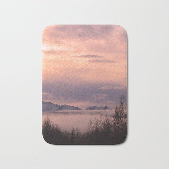 Rose Serenity Winter Fog - II Bath Mat