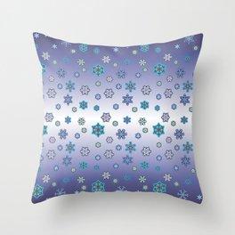 Snowflakes 10 Throw Pillow