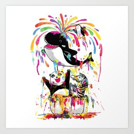 Yay! Bath Time! Art Print