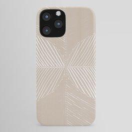 Cream Tropical Leaf Minimalist iPhone Case
