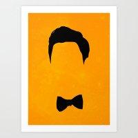 darren criss Art Prints featuring Darren Criss Hair & Bowtie by byebyesally