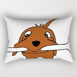 Dog with bone Rectangular Pillow