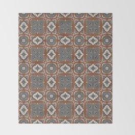 Gray Brown Taupe Beige Tan Black Hip Orient Bali Art Throw Blanket