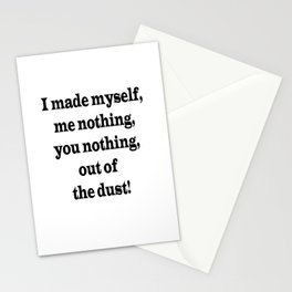 Me Nothing, You Nothing Stationery Cards