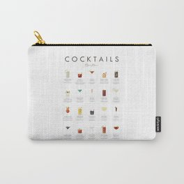 Cocktail Chart - Bar Menu Carry-All Pouch