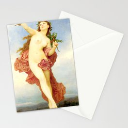 Day : Nude by William-Adolphe Bouguereau Stationery Cards