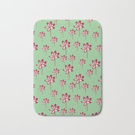 Tropical Blooms Mint Bath Mat