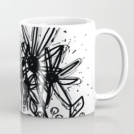 Scribble Doodle Flowers No.3A by Kathy Morton Stanion Coffee Mug