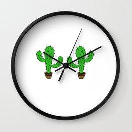 Awesome Expert Tshirt Design CACTUS EXPERT Wall Clock