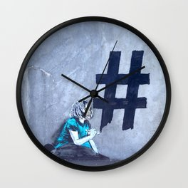 #Hashtag Wall Clock
