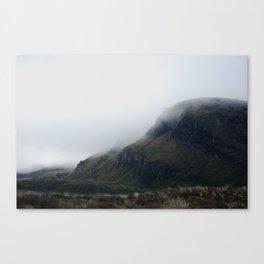 misty start on the tongariro alpine crossing Canvas Print