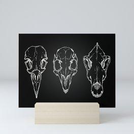Raven, Rabbit, Wolf - Skulls Mini Art Print