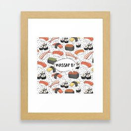 WASSAP B? Framed Art Print