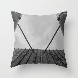 Twin Chimneys Throw Pillow