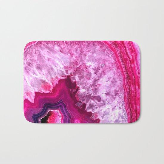 pink agate Bath Mat