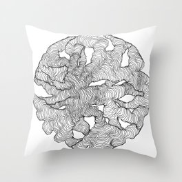 Organic Lines Throw Pillow