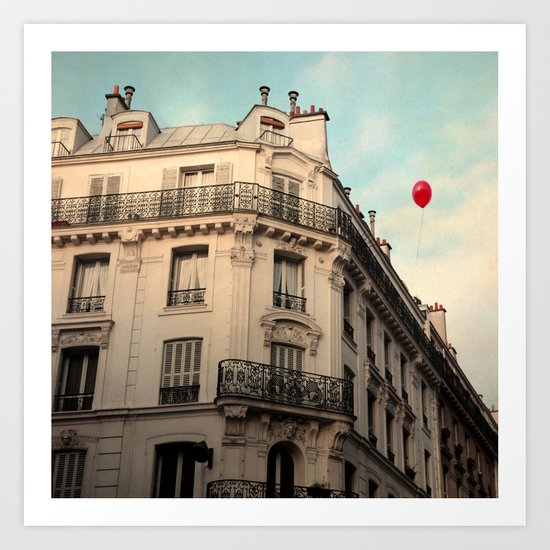 Balloon Rouge Art Print
