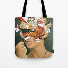 the disaster in her face 4 Tote Bag