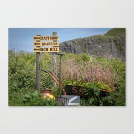 Easdale signs of life. Canvas Print