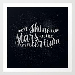Shine like Stars - Winter Art Print