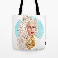 versace Tote Bags featuring Versace Venus by Helen Green
