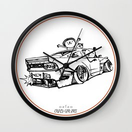 Crazy Car Art 0007 Wall Clock