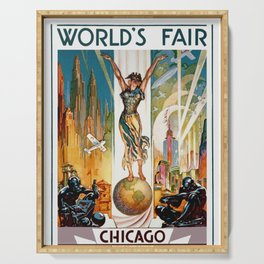 Vintage World's Fair Chicago IL 1933 Serving Tray