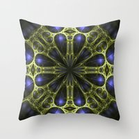 egyptian Throw Pillows featuring Egyptian Gold by Brian Raggatt