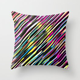 Diagonals color mix Throw Pillow