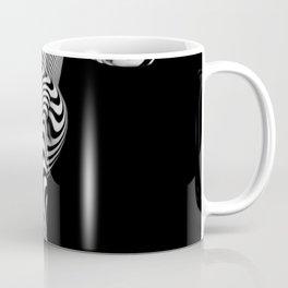 0489s-MM BW Zebra Striped Art Nude Figure Curves Coffee Mug