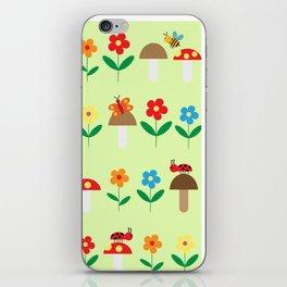 Meadow pattern iPhone Skin