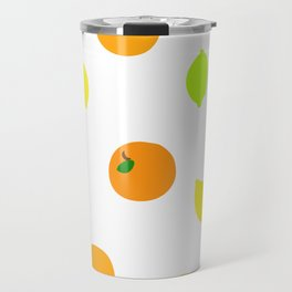 Citrus with Yellow, Orange and Green Oranges, Lemons and Limes Travel Mug