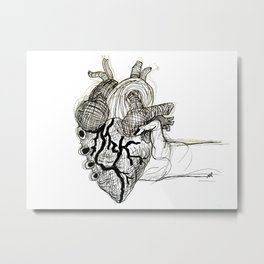 Heart in Your Hands Metal Print